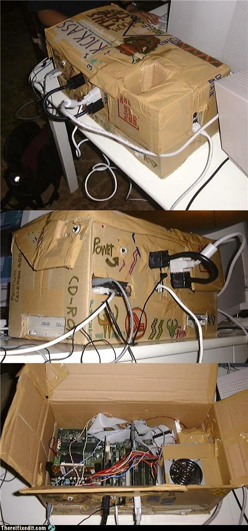 cardboard,computer case,computer repair