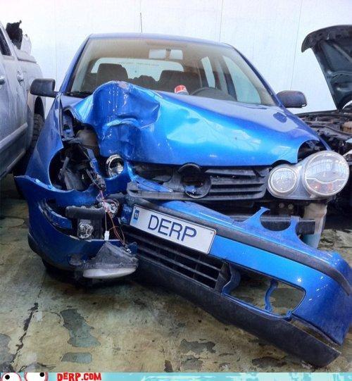 car,crashed,derp,license plate