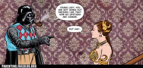 darth vadar dressing like a skank Princess Leia star wars