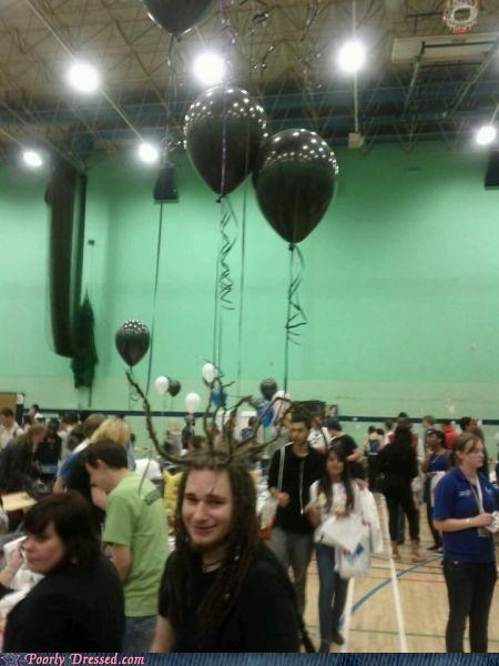 balloon dreadlocks gym Hall of Fame school