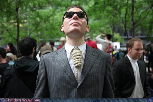 necktie noose Occupy Wall Street suit tie - 5247801856