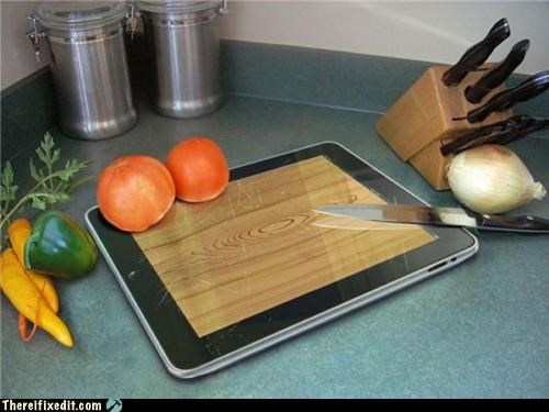 apple products,cutting,dual use,Hall of Fame,ipad,kitchen kludge