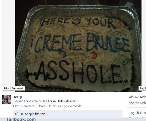 birthday cake crème brûlée oh snap Photo - 5247937024