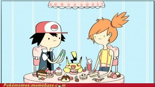 adventure time,ash,crossover,misty,pikachu