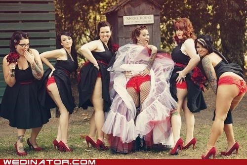 bridesmaids funny wedding photos underwear