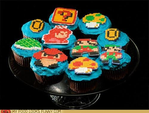 cupcakes,dessert,funny food photos,video games