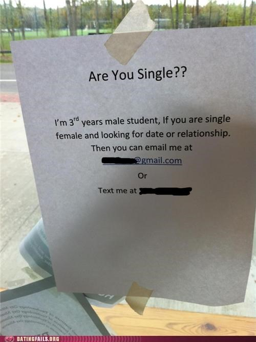 asking out college personals sign We Are Dating - 5248187136