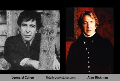 actor actors Alan Rickman Leonard Cohen musicians poet voice of god