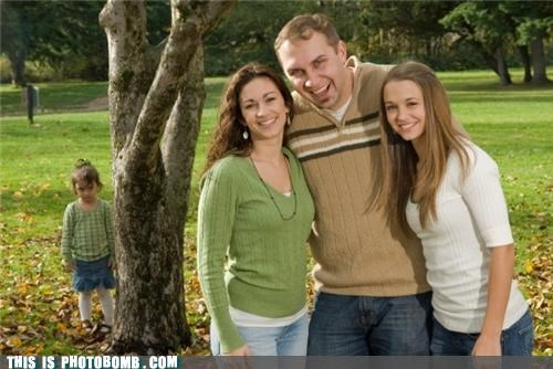 adopted family photo forever alone Kids are Creepers Too outside park