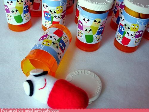 cute daaawww medicine pills Plush - 5248729088