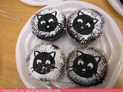 Cats cupcakes epicute kittehs stencils sugar - 5248885504