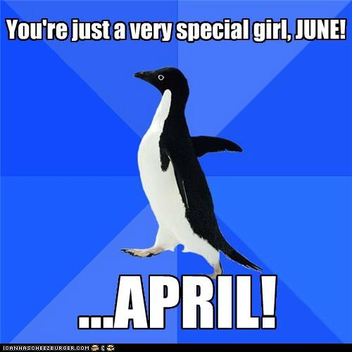 april june name Sexy Ladies socially awkward penguin - 5249018112