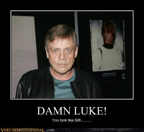 luke skywalker Mark Hamill Sad sith - 5249335552