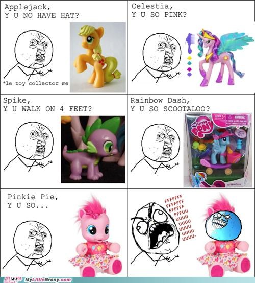 all wrong comics fuuuuuu pinkie pie Rage Comics toys Y U No Guy - 5249939200