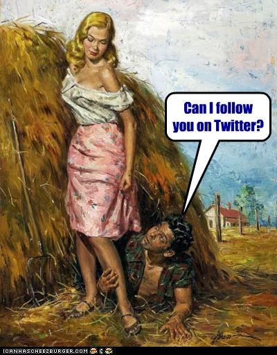 creepy,follow,hay,hay bales,historic lols,twitter,wtf