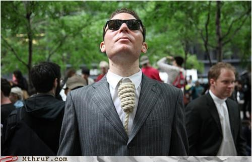 hanging noose Occupy Wall Street tie - 5250044416