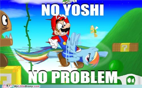 crossover mario no yoshi rainboom rainbow dash video game - 5250308864