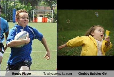 athlete bubbles chubby chubby girl rugby run running sports