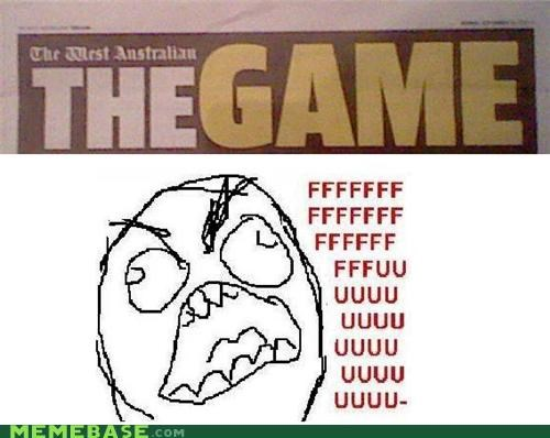 australia news paper Rage Comics the game - 5251033600