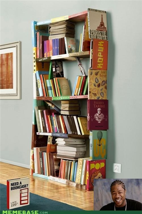 bookcase,books,meta,shelf,what,yo dawg