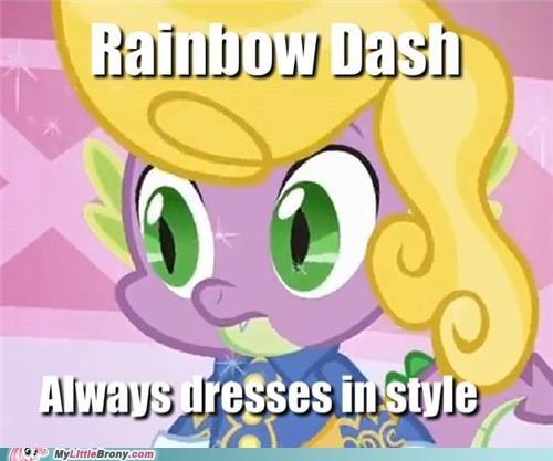 Close Enough funny in style meme rainbow dash rainbow spike spike - 5251099648