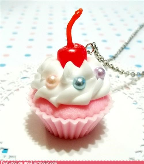 cupcake cute necklace smell sweet vanilla - 5251163904