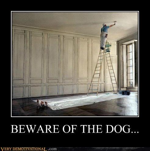 dogs hilarious ladder paint - 5251346944