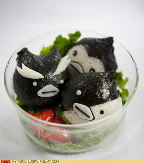 bento Japan nori onigiri penguins rice seaweed - 5251415040