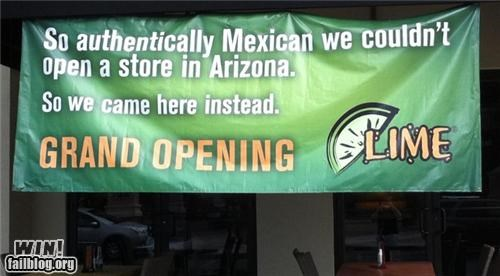 arizona business mexican food mexico politics restaurant sign - 5251476736