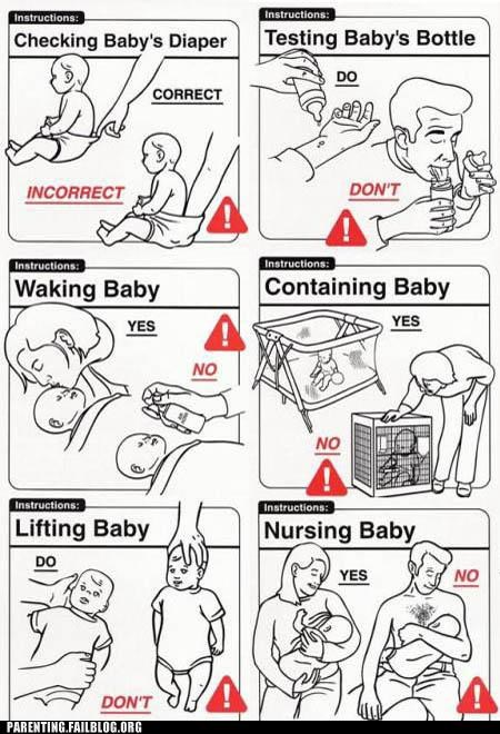 Pro Tip: The Instructions That Come With Your First Baby