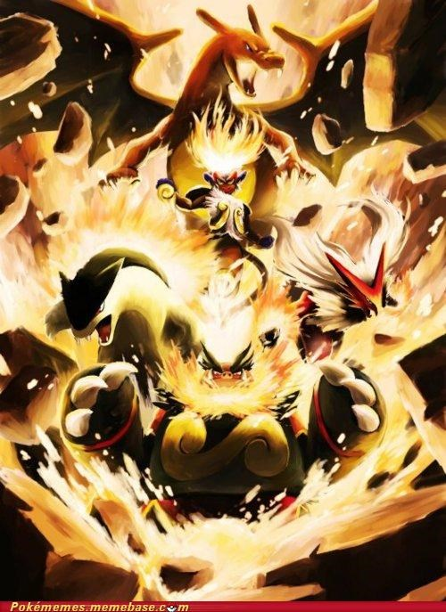art,best of week,blaziken,charizard,emboar,fire starters,infernape,typhlosion