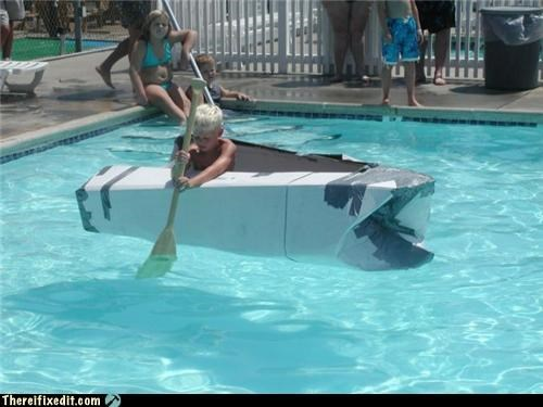 duct tape,floating,kids,pool,swimming