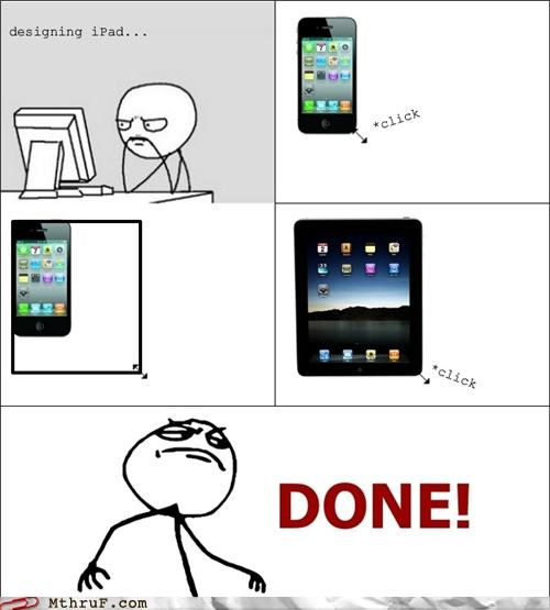 apple comic ipad iphone rage comic