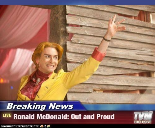 actors,David Tennant,gay,mascots,out and proud,roflrazzi,Ronald McDonald