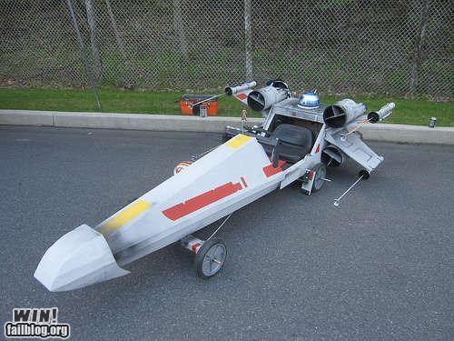 car,craft,nerdgasm,soapbox derby,star wars,vehicle,x wing