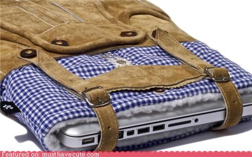 bavaria,clothes,cute,laptop,lederhosen,sleeve