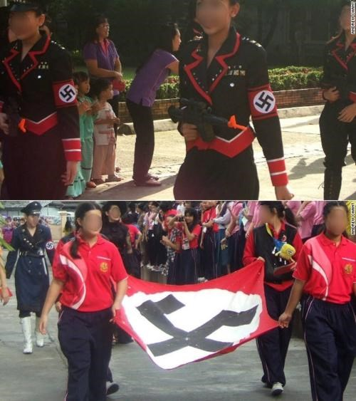 Mark Lee Nazi-Themed Parade Sacred Heart School Taiwan thailand - 5252690688