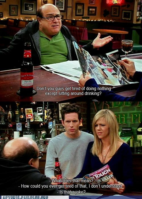 always sunny,bar,does not compute,dont-understand,drinking,Hall of Fame,wait what
