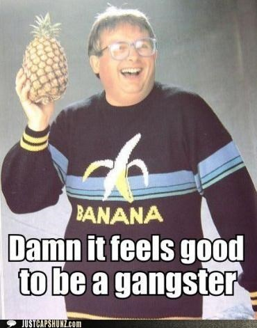 bananas fruit gangster nerds pineapples sweaters - 5252788224
