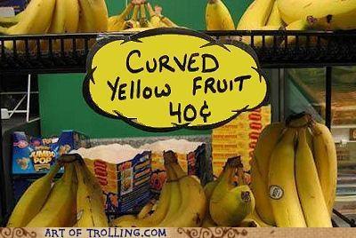 banana fruit IRL sign