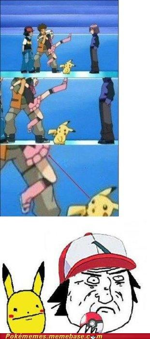 ash,comic,dawn,not telling,pika pika,pikachu,pokerface