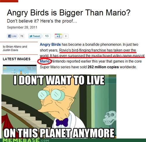 angry birds beatles i dont want to live on this planet anymore mario Music video games - 5253438720
