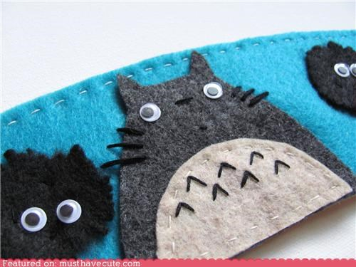 anime coffee cozy cute felt totoro