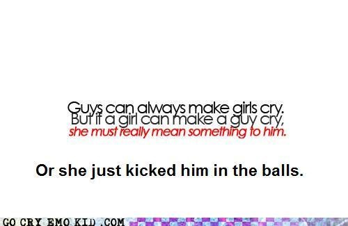 boys,crying,girls,groin kick