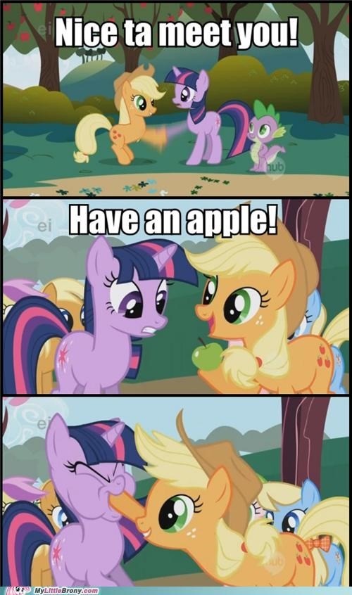 applejack facehoof have an apple TV twilight sparkle - 5253876224