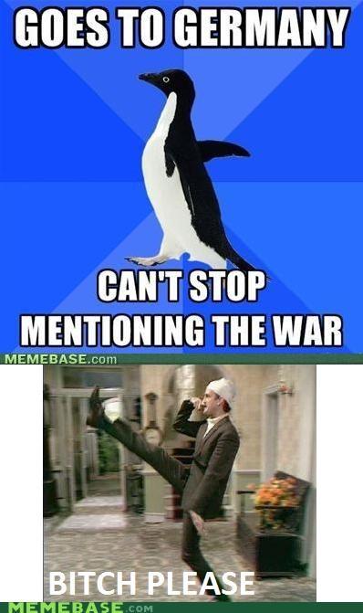 Germany John Cleese monty python socially awkward penguin war - 5254089472