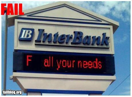 Customer Service Fail Now that's a trustworthy bank!!!