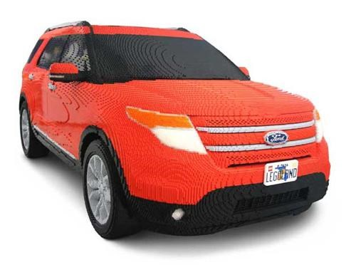cars epic lego ford explorer full-sized model lego Nerd News replica Toyz - 5254624256