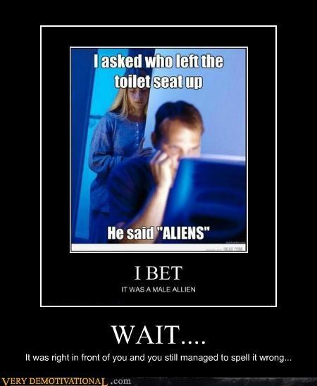 Aliens hilarious Memes wait - 5254672384