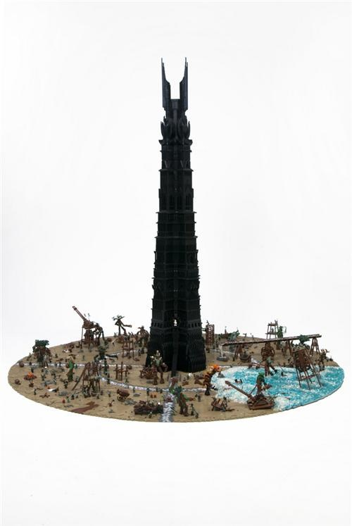 last march of the ents,lego,Lord of the Rings,movies,tower,tower of orthanc,Toyz